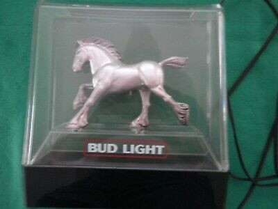 $ CDN32.90 • Buy Vintage Anheuser Busch Budweiser Bud-Light Clydesdale Horse Lamp Bar Sign: Used