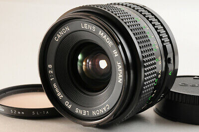 【TOP MINT】CANON New FD 28mm F/2.8 1:2.8 NFD Wide Angle MF Lens From JAPAN • 79.30£