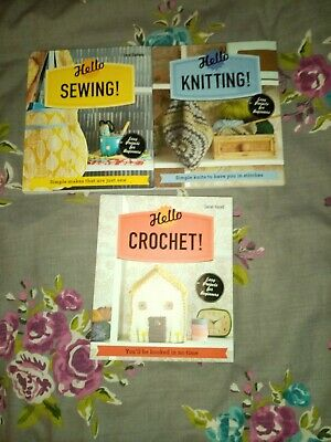 3 Craft Books Knitting, Sewing And Crochet  • 0.99£