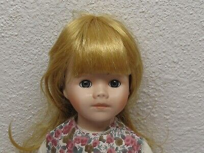 $ CDN2.05 • Buy Porcelain Doll With Strawberry Blonde Hair Floral Dress Socks Knickers