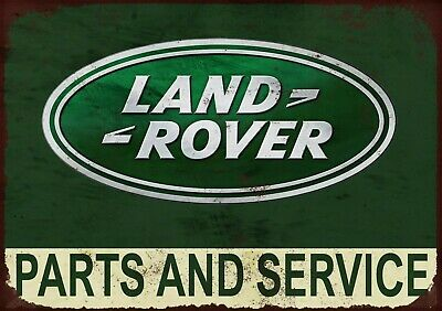 Land Rover Parts And Service (2) Metal Wall Sign • 14£
