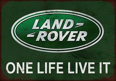 Land Rover One Life Live It Metal Wall Sign • 5£