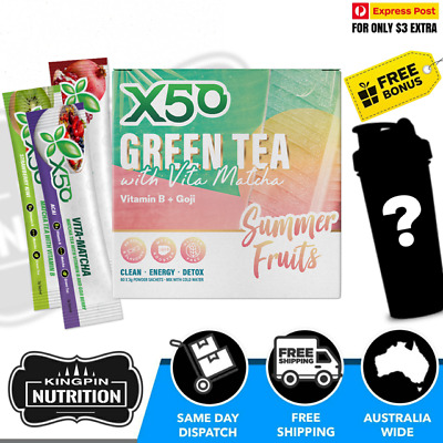 AU59.50 • Buy X50 Green Tea Vita Matcha Limited Edition Summer Fruits - 60 Serves / 6 Flavours