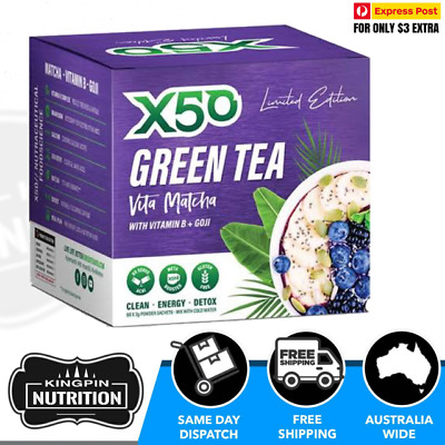 AU59.50 • Buy X50 Green Tea Vita Matcha Limited Edition Acai Flavour - 60 Serves Weight Loss