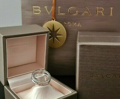 AU890 • Buy Authentic 18k BVLGARI B.Zero 1 White Gold Stunning Designer Ring In Box RRP...