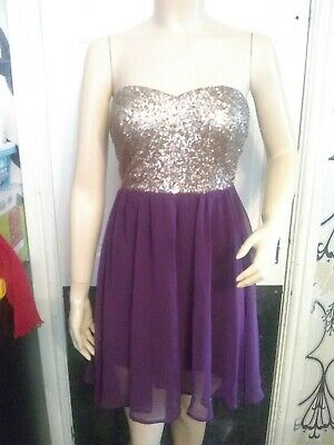 Ladies Strapless Dress From Miso Size 10 • 2.20£
