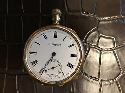 Beautiful Antique Gold Plated Gents Elgin Hunter Pocket Watch. Working. • 75£