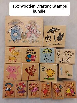 Animals, Mix Crafting Stamps Bundle, 16 Stamps (storage Clear Out)  • 12£