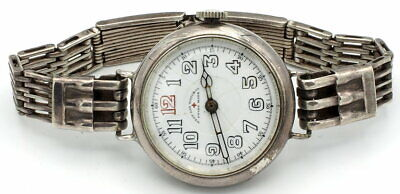 West End Watch Co.( By Longines) Trench. Silver Case Swiss Made 17 Jewels 1920's • 365.73£