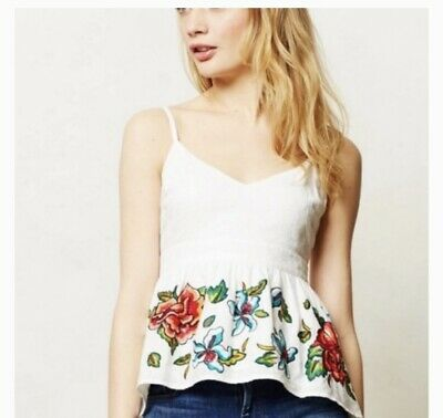 $ CDN49.22 • Buy ANTHROPOLOGIE Maeve Sereno EMBROIDERED Cami Size Small