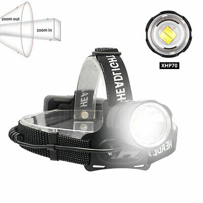 AU43.99 • Buy XHP70 XHP90  XHP100 LED Headlamp Ultra Bright USB Rechargeable Headlight Torch