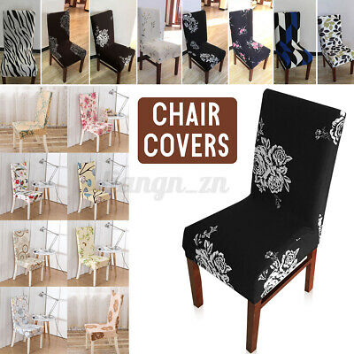 AU9.96 • Buy Dining Chair Seat Cover Slip Stretch Slipcovers Removable Wedding Banquet Party`