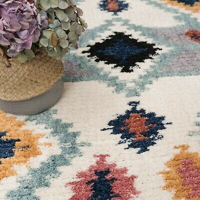 £49.95 • Buy Moroccan Style Living Room Rugs With Tassels African Boho Low Pile Shag Area Rug