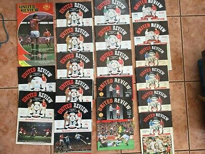 Great Selection Of 43 Manchester United Home Programmes • 3.50£