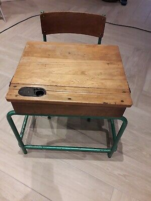 Vintage School Desk And Chair • 40£