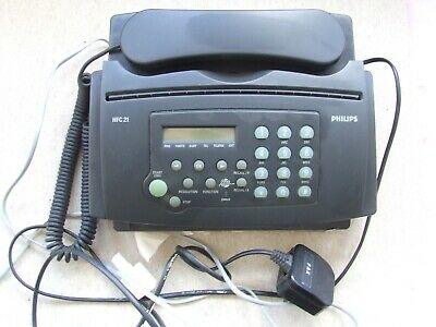 PHILIPS FACSIMILE MACHINE Fax And Telephone Receiver Model HFC 21 Unwanted • 15£