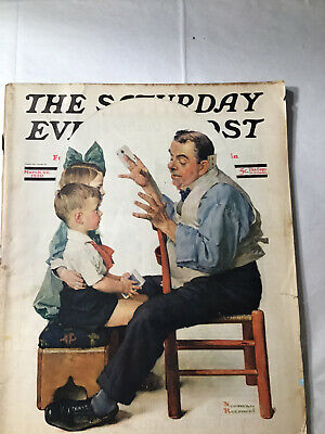 $ CDN50.87 • Buy The Saturday Evening Post 3/22/1930 Norman Rockwell Small Tear On Front Cover