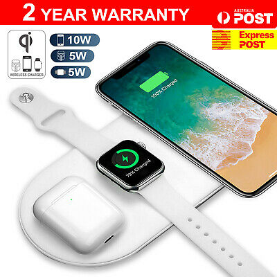 AU20.95 • Buy 3 In1 QI Wireless Charger Charging Dock Station For Apple Watch / IPhone/ Pods