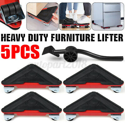 AU29.99 • Buy 5pcs Heavy Duty Furniture Slider Lifter Movers Tool Kit Roller Transport Trolley