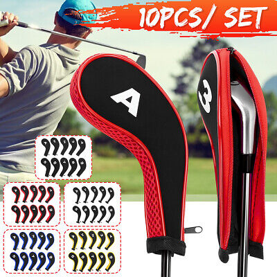 AU18.89 • Buy 12Pcs/Set Golf Pole Head Cover Iron Putter Driver Headcover Protector Case Club
