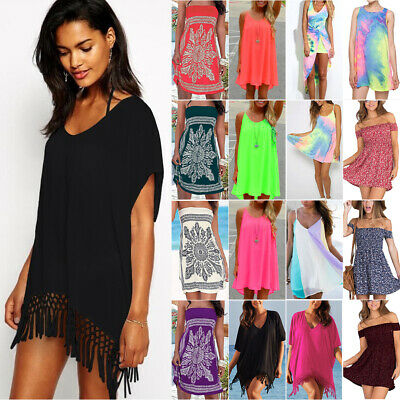 AU18.99 • Buy Women Summer Beach Swimwear Bikini Cover Up Baggy Kaftan Tunic Dress Sundress