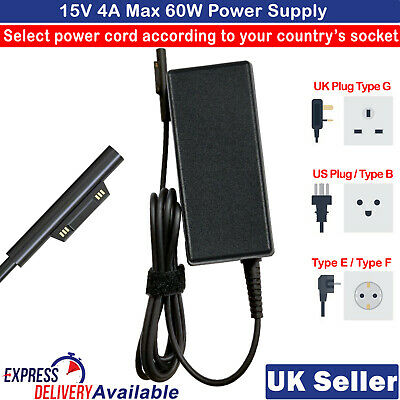 $ CDN33.32 • Buy Power Supply Charger For Microsoft Surface Pro 3 Pro 4 Pro 5 Book Go Adapter