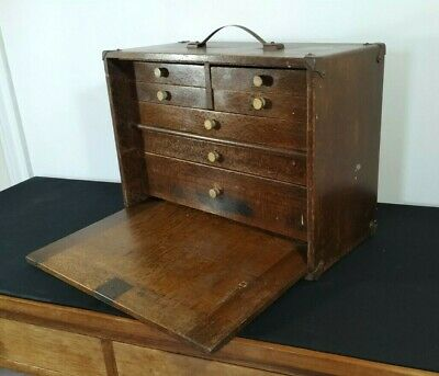 Vintage Collectors Chest Of Drawers Specimen Watchmakers Engineers Cabinet 1950s • 199£