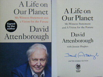 Signed Book A Life On Our Planet By David Attenborough Hardback 1st Edition 2020 • 102£