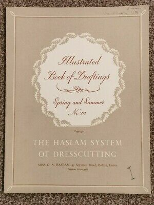 HASLAM SYSTEM OF DRESSCUTTING. BOOK OF DRAFTINGS SPRING AND SUMMER No 20 • 12.99£