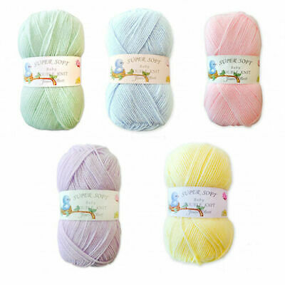 James C Brett Super Soft Baby Double Knit DK Acrylic Knitting Wool Yarn 100g • 1.78£