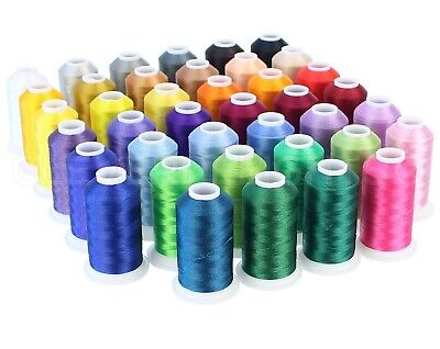 $39.99 • Buy Embroidery Machine Thread Set - 40 Colors - 1100 Yard Spools - Polyester Thread