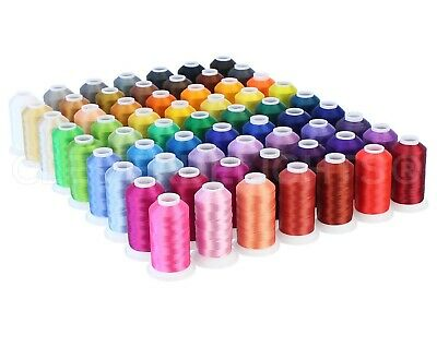 $59.99 • Buy Embroidery Machine Thread Set - 63 Colors - 1100 Yard Spools - Polyester Thread