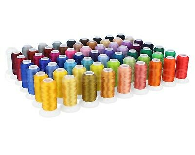 $42.88 • Buy Embroidery Machine Thread Set - 63 Colors - 550 Yard Spools - Polyester Thread