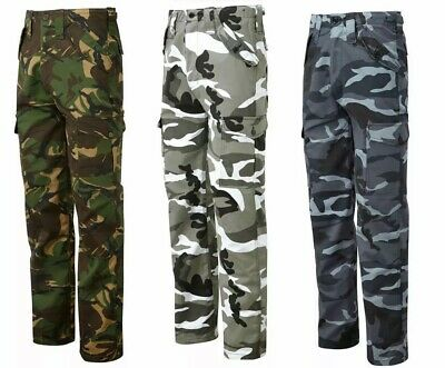 £15.99 • Buy Mens Cargo Army Combat Camouflage Army Outdoor Trousers Pants Heavy Duty 6pro
