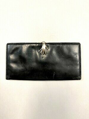 $49.95 • Buy GUCCI Vintage ICONIC VERY RARE Black Leather HAND Surrealist Wallet Billfold