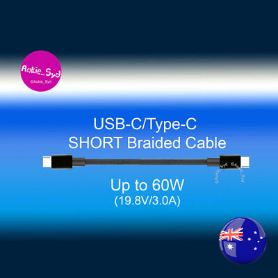AU7.10 • Buy Short 22CM Aukie_Syd Type-C To Type-C /USB C Braided Cable
