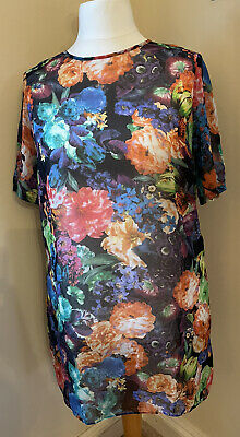 M&S Limited Collection Sheer Floral Shift Dress Size UK 18 • 0.99£