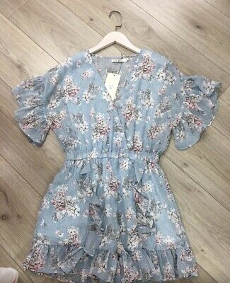 Ladies Floral Playsuit New With Tags Size S/M UK 8-10 • 10£