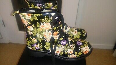 Ladies Floral Ankle Boots Size 42 • 8.50£