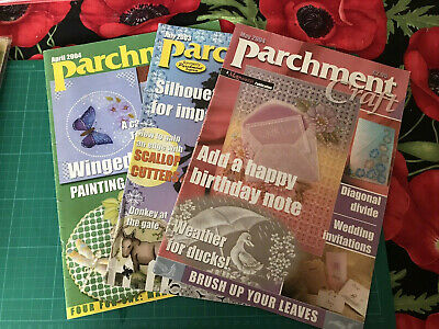 3 Parchment Craft Magazines Crafts • 2.99£