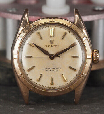 $ CDN2575.51 • Buy Vintage Rolex Ref.6085 18k Rose Gold Bubbleback Rare