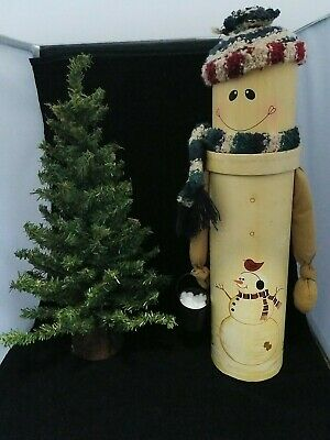 $ CDN42.93 • Buy Vintage Miniature Moldable Christmas Tree & Snowman Storage Case
