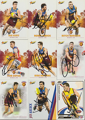 AU7.99 • Buy Brisbane Lions Hand Signed AFL Select Teamcoach AFL Cards Select Your Card