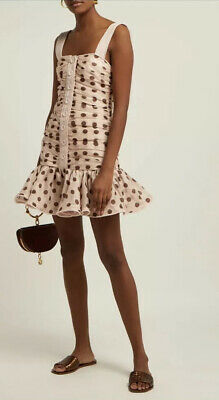 AU250 • Buy Zimmermann Corsage Ruched Mini Dress • Worn Once • Size 3 • RRP $850