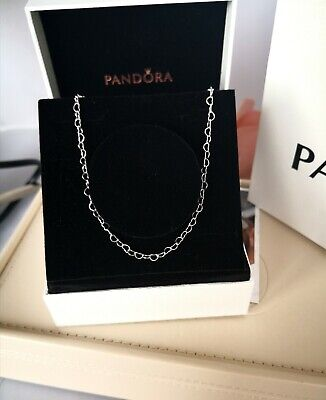 Genuine Pandora Joined Hearts Necklace In S925 Ale Sterling Silver 397961 60cm  • 37.99£