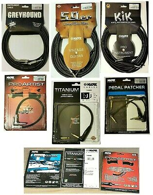 $ CDN11.23 • Buy NEW Klotz Guitar/Instrument Cables And Patch Jack To Jack Leads HUGE DISCOUNT