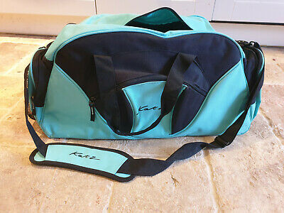 Katz Large Ballet/Dance Holdall Bag, Turquoise And Black, Gym Yoga Exercise • 0.99£