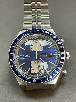 $ CDN888.92 • Buy Seiko  Automatic Chronograph Watch - 6138-0030 Automatic Movement Blue Dial R15