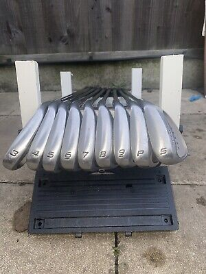 TAYLORMADE SUPERSTEEL BURNER IRONS 3-SW BUBBLE SHAFT & Lob Wedge Included. • 110£