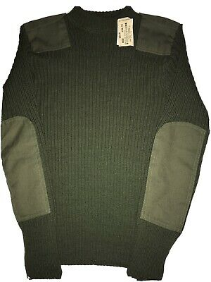 $19.99 • Buy DSCP Valor Collection Green Military Wool Sweater Size 34 NEW WITH TAGS